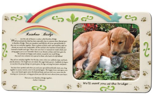 Pet Bereavement Photo Frame Rainbow Bridge Poem (Dog Picture Frame Memorial compare prices)