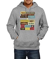 Fanideaz Men's Cotton Stop Reading My T-Shirt Hoodies For Men (Premium Sweatshirt)_Grey Melange_L