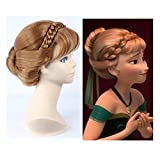 Beauty-Zone® Frozen Princess Anna Light Brown / Elas + Anna Wig Cosplay Costume Anime Wig (Anna (B))