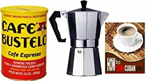 Coffee Maker For Cuban Coffee : Amazon.com: Bustelo Cuban Coffee 10 oz can and 3 Cup Coffee Maker Style: Kitchen & Dining