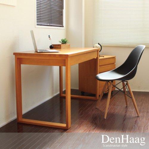 パソコンデスク 北欧 書斎机 学習机 ダイニングテーブル パイン材 120cm幅 2点セット 収納 木製 RP001+RP003