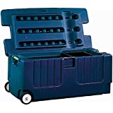 Jolly Pets Tack Trunk with Wheel Assemble, Blue