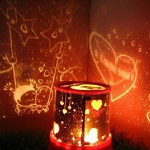 2013Newestseller Red Fantastic 2Nd Generation Star Sky Planet Lover Projector Starry Night Light Lamp Children Christmas Gift Bed Side Lamp front-356857