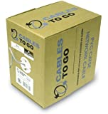 C2G / Cables to Go 27353 Cat5E UTP Solid PVC CMR-Rated Cable, Grey (500 Feet/152.4 Meters)