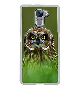 Owl 2D Hard Polycarbonate Designer Back Case Cover for Huawei Honor 7 :: Huawei Honor 7 Enhanced Edition :: Huawei Honor 7 Dual SIM