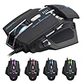 DIY Laser Gaming Mouse 4000DPI Adjustable High Precision Infrared Ray 7 Buttons with Software Macro Definition Replaceable Palm Rest With LED Light Changing Mice for True Gamer by XSOUL XM8 PREDATOR