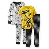 Carter's Baby Boys' 4-Piece Pant PJ Set - Yellow - 24 Months