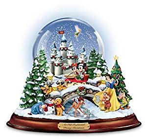 """An Old Fashioned Disney Christmas"" Musical Snowglobe Showcasing 13 Classic Characters by The Bradford Exchange by The Bradford Exchange"