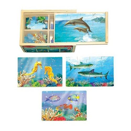 Melissa & Doug Wooden Box Puzzle Sea Life - Buy Melissa & Doug Wooden Box Puzzle Sea Life - Purchase Melissa & Doug Wooden Box Puzzle Sea Life (Melissa & Doug, Toys & Games,Categories,Preschool,Pre-Kindergarten Toys,Puzzles)
