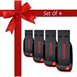 Sandisk Cruzer Blade CZ50 USB Flash Drive Pack Of 4 16GB USB 2.0 Pendrive