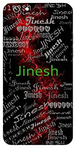 Jinesh (Hindu Boy) Name & Sign Printed All over customize & Personalized!! Protective back cover for your Smart Phone : Samsung Galaxy Note-3