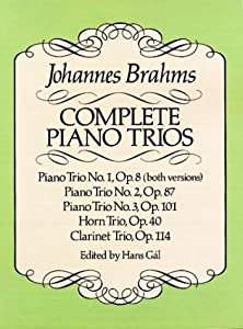 Complete Piano Trios Dover Chamber Music Scores from Dover Publications Inc.