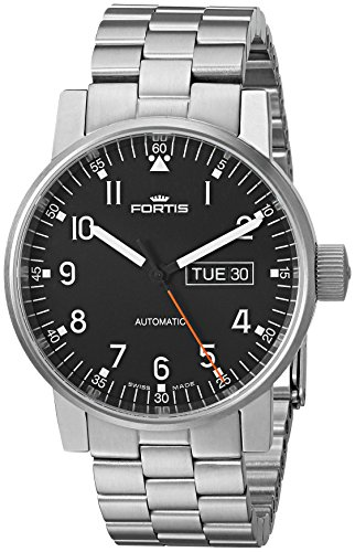 Fortis-Mens-6231071-M-Spacematic-Pilot-Proffesional-Analog-Display-Automatic-Self-Wind-Silver-Watch