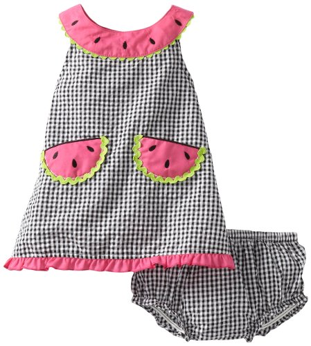 f7b542e34 Youngland Baby-girls Infant Gingham Checked Watermelon Dress | Baby ...