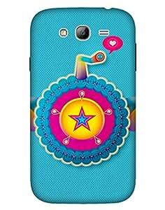 Bikzone Back Cover For Samsung Galaxy Grand (Multicolor)