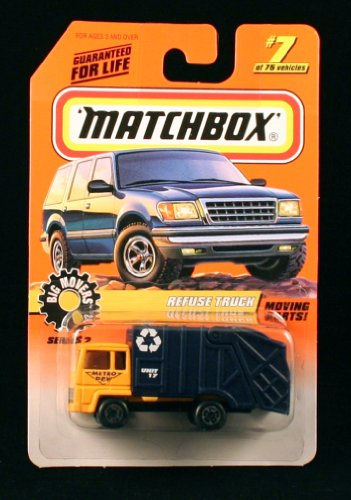 REFUSE TRUCK Big Movers Series 2 MATCHBOX 1998 Basic Die-Cast Vehicle (#7 of 75) - 1