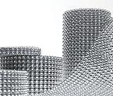 Dress My Cupcake Silver Diamond Rhinestone Ribbon Wrap BULK 30 feet - Wedding Decorations, Party Supplies
