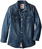 Levis Big Boys Barstow Western Shirt with Metal Buttons