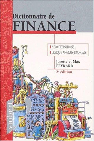 Dictionnaire de finance. 2ème édition