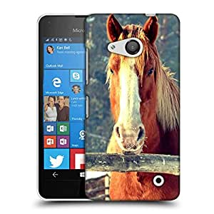 Snoogg Abstract Horse Designer Protective Phone Back Case Cover For Nokia Lumia 550