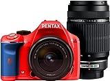 PENTAX デジタル一眼レフカメラ K-x ダブルズームキット レッド/ブルー 025