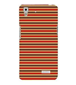 Colorful Lines 3D Hard Polycarbonate Designer Back Case Cover for Oppo R7 :: Oppo R7 Lite