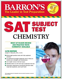 Amazon.com: Barron's SAT Subject Test Chemistry, 11th Edition