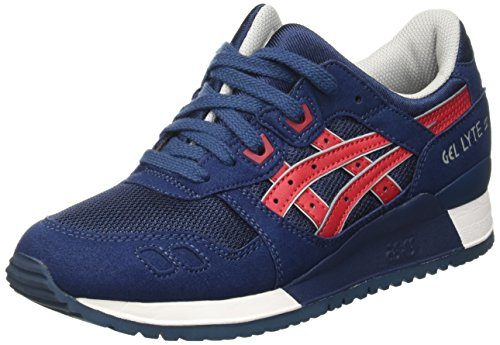 ASICS Gel-lyte Iii, Unisex-Erwachsene Sneakers, Blau (indian Ink/tango Red 5025), 38 EU thumbnail