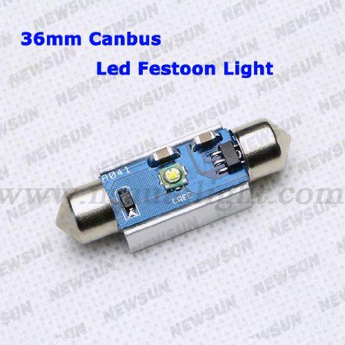 Newsun 2Pcs White Canbus 12V 36Mm Smd Cree Xpe Led Car Auto Light Bulbs Led License Plate Light Led Festoon Light Bulbs