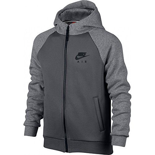 Nike B NSW HD FZ NIKE AIR HYBRID - Felpa, Grigio - L - Bambini
