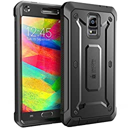 Samsung Galaxy Note 4 Case, SUPCASE [Heavy Duty] Belt Clip Holster Case for Galaxy Note 4 [Unicorn Beetle PRO Series] Full-body Rugged Hybrid Protective Cover with Built-in Screen Protector (Black/Black), Dual Layer Design + Impact Resistant Bumper