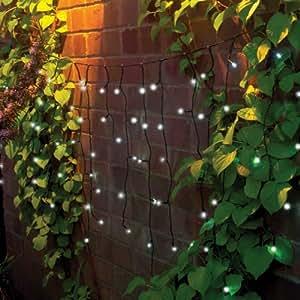 110 christmas icicle solar led string lights. Black Bedroom Furniture Sets. Home Design Ideas