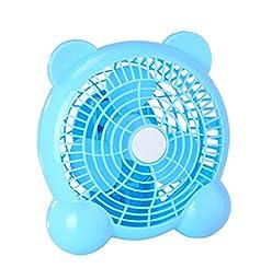 Generic Quiet USB Desk Fan Bear Shaped 7 inches Blue