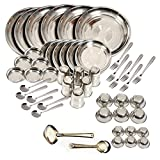 Stainless Steel - Dinner Set Of 50Pcs