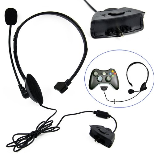 Lantomall Headset With Microphone For Xbox 360 Live Xbox360 Black