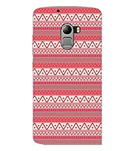 PrintDhaba Tribal Pattern D-5418 Back Case Cover for LENOVO K4 NOTE A7010 (Multi-Coloured)