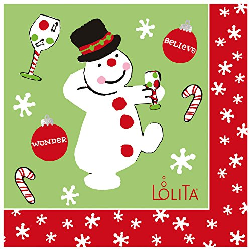 C.R. Gibson Lolita 20 Count Frosty'S Party Too Beverage Napkins front-955635