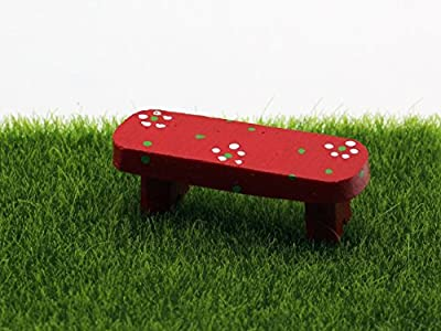 Kleine Rote Bank aus Harz DIY Gartendeko Puppenhaus-Ausschmückung Mini-Welt Miniatur Mini-Szene von Fortag auf Gartenmöbel von Du und Dein Garten