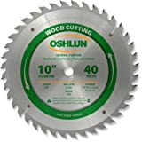 Oshlun SBW-100040 10-Inch 40 Tooth ATB General Purpose Saw Blade with 5/8-Inch Arbor (Tamaño: 40 Tooth General Purpose)