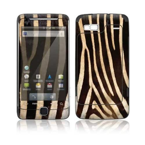 Zebra Print Design Decorative Skin Cover Decal Sticker for HTC Desire Z Cell Phone