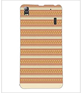 PrintDhaba Tribal Pattern D-1738 Back Case Cover for LENOVO A7000 (Multi-Coloured)