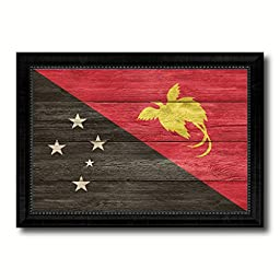 Papua New Guinea National Country Flag Texture Canvas Print, Frame Patriotic Souvenir Gift Ideas office Home Décor Wall Art Livingroom Vintage Decoration Interior Design, 15\