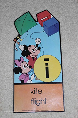 Walt Disney Poster Mickey Mouse Minnie Mouse Kite Flight MCMLXXIX Decor Teach
