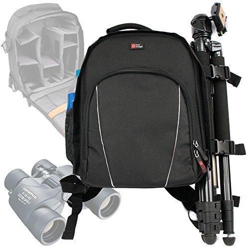 Duragadget 'Adventure' Nylon Rucksack With Adjustable Padded Interior & Rain Cover For Olympus 8X40 Dpsi Binocular, Olympus 10X50 Dps 1 Binocular & Olympus 8-16X40 Zoom Dps I Binocular