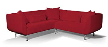 Dekoria Fire Retarding Ikea Stromstad 3+2 seater corner sofa cover - red