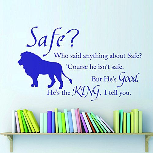 Chronicles of Narnia Aslan Safe Wall Quote Vinyl Wall Decal Inspirational Wall Sticker Words Wall Graphic Home Art Decoration Black (Cs Lewis The Complete Works compare prices)