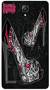 Remarkable 3D multicolor printed protective REBEL mobile back cover for Redmi Note - D.No-DEZ-2769-redmi