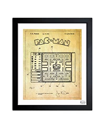 "Oliver Gal ""Maze-Based Game Screen 2003"" Framed Art"