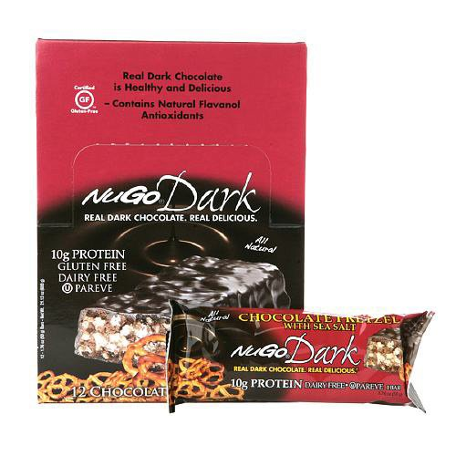 Nugo Dark Chocolate Pretzel Nutrition Bar, 1.76 Ounce -- 12 Per Case.