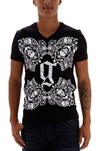 John Galliano T-shirt da uomo nero taglia XS
